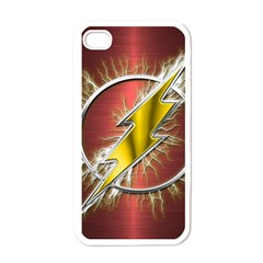 Flash Flashy Logo Apple Iphone 4 Case (white) by Onesevenart