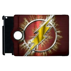 Flash Flashy Logo Apple Ipad 3/4 Flip 360 Case by Onesevenart