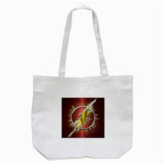 Flash Flashy Logo Tote Bag (white) by Onesevenart