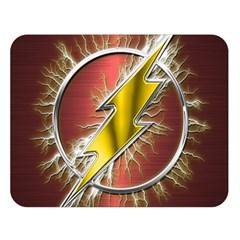 Flash Flashy Logo Double Sided Flano Blanket (large)  by Onesevenart
