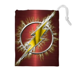 Flash Flashy Logo Drawstring Pouches (extra Large) by Onesevenart