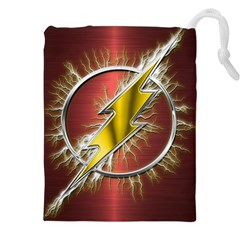 Flash Flashy Logo Drawstring Pouches (xxl) by Onesevenart
