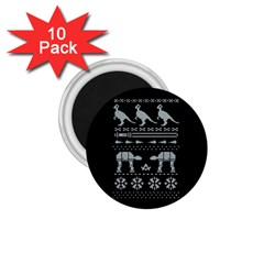 Holiday Party Attire Ugly Christmas Black Background 1 75  Magnets (10 Pack)  by Onesevenart