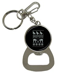 Holiday Party Attire Ugly Christmas Black Background Bottle Opener Key Chains by Onesevenart