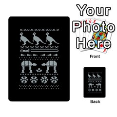 Holiday Party Attire Ugly Christmas Black Background Multi Purpose Cards (rectangle)  by Onesevenart