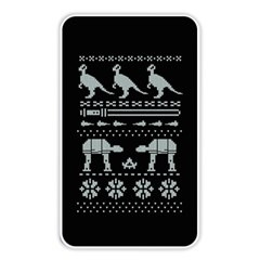 Holiday Party Attire Ugly Christmas Black Background Memory Card Reader by Onesevenart