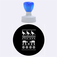 Holiday Party Attire Ugly Christmas Black Background Rubber Round Stamps (large) by Onesevenart