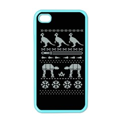 Holiday Party Attire Ugly Christmas Black Background Apple Iphone 4 Case (color) by Onesevenart