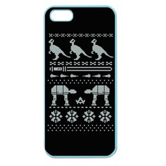Holiday Party Attire Ugly Christmas Black Background Apple Seamless Iphone 5 Case (color) by Onesevenart