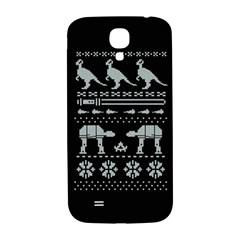 Holiday Party Attire Ugly Christmas Black Background Samsung Galaxy S4 I9500/i9505  Hardshell Back Case by Onesevenart