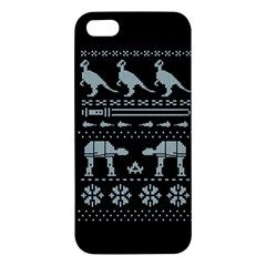Holiday Party Attire Ugly Christmas Black Background Iphone 5s/ Se Premium Hardshell Case by Onesevenart