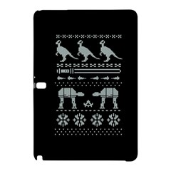 Holiday Party Attire Ugly Christmas Black Background Samsung Galaxy Tab Pro 10 1 Hardshell Case by Onesevenart