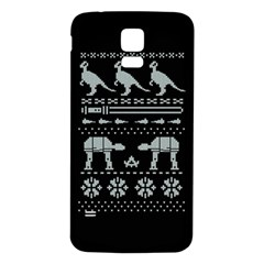 Holiday Party Attire Ugly Christmas Black Background Samsung Galaxy S5 Back Case (white) by Onesevenart
