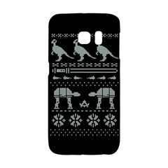 Holiday Party Attire Ugly Christmas Black Background Galaxy S6 Edge by Onesevenart