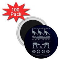Holiday Party Attire Ugly Christmas Blue Background 1 75  Magnets (100 Pack)  by Onesevenart