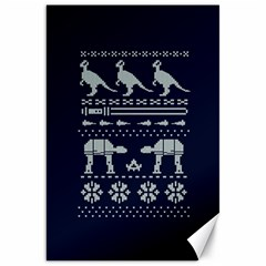 Holiday Party Attire Ugly Christmas Blue Background Canvas 20  X 30   by Onesevenart