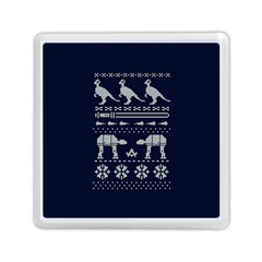 Holiday Party Attire Ugly Christmas Blue Background Memory Card Reader (square)  by Onesevenart