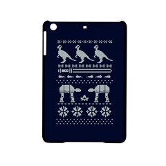 Holiday Party Attire Ugly Christmas Blue Background Ipad Mini 2 Hardshell Cases by Onesevenart