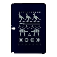 Holiday Party Attire Ugly Christmas Blue Background Samsung Galaxy Tab Pro 10 1 Hardshell Case by Onesevenart