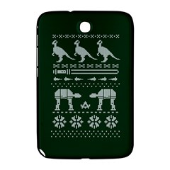 Holiday Party Attire Ugly Christmas Green Background Samsung Galaxy Note 8 0 N5100 Hardshell Case  by Onesevenart