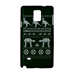 Holiday Party Attire Ugly Christmas Green Background Samsung Galaxy Note 4 Hardshell Case by Onesevenart