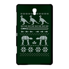 Holiday Party Attire Ugly Christmas Green Background Samsung Galaxy Tab S (8 4 ) Hardshell Case  by Onesevenart