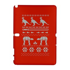 Holiday Party Attire Ugly Christmas Red Background Samsung Galaxy Note 10 1 (p600) Hardshell Case by Onesevenart