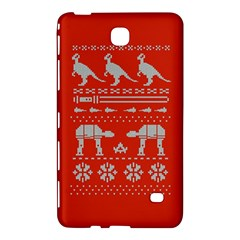 Holiday Party Attire Ugly Christmas Red Background Samsung Galaxy Tab 4 (7 ) Hardshell Case  by Onesevenart