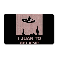 I Juan To Believe Ugly Holiday Christmas Black Background Magnet (rectangular) by Onesevenart
