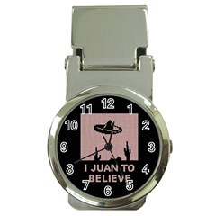 I Juan To Believe Ugly Holiday Christmas Black Background Money Clip Watches by Onesevenart