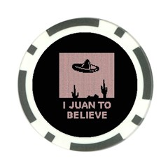 I Juan To Believe Ugly Holiday Christmas Black Background Poker Chip Card Guards