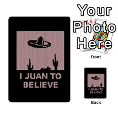 I Juan To Believe Ugly Holiday Christmas Black Background Multi Purpose Cards (rectangle)  by Onesevenart