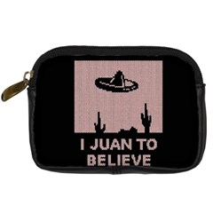 I Juan To Believe Ugly Holiday Christmas Black Background Digital Camera Cases by Onesevenart