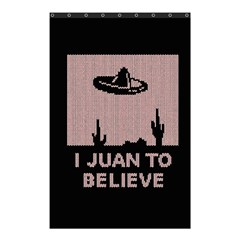 I Juan To Believe Ugly Holiday Christmas Black Background Shower Curtain 48  X 72  (small)  by Onesevenart
