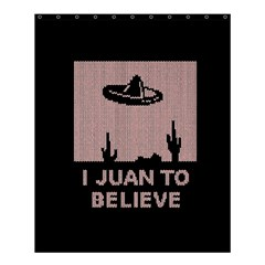 I Juan To Believe Ugly Holiday Christmas Black Background Shower Curtain 60  X 72  (medium)  by Onesevenart