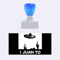I Juan To Believe Ugly Holiday Christmas Black Background Rubber Stamps (medium)  by Onesevenart