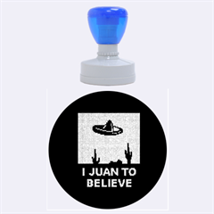 I Juan To Believe Ugly Holiday Christmas Black Background Rubber Round Stamps (large) by Onesevenart