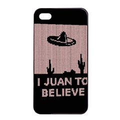 I Juan To Believe Ugly Holiday Christmas Black Background Apple Iphone 4/4s Seamless Case (black) by Onesevenart