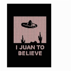 I Juan To Believe Ugly Holiday Christmas Black Background Small Garden Flag (two Sides) by Onesevenart