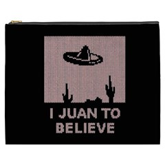 I Juan To Believe Ugly Holiday Christmas Black Background Cosmetic Bag (xxxl)  by Onesevenart