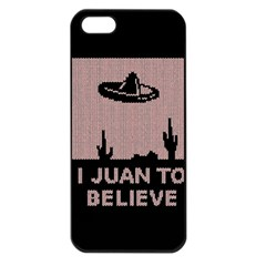 I Juan To Believe Ugly Holiday Christmas Black Background Apple Iphone 5 Seamless Case (black) by Onesevenart