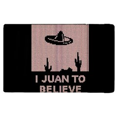 I Juan To Believe Ugly Holiday Christmas Black Background Apple Ipad 3/4 Flip Case by Onesevenart