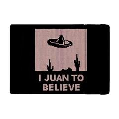 I Juan To Believe Ugly Holiday Christmas Black Background Apple Ipad Mini Flip Case by Onesevenart