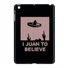 I Juan To Believe Ugly Holiday Christmas Black Background Apple Ipad Mini Case (black) by Onesevenart