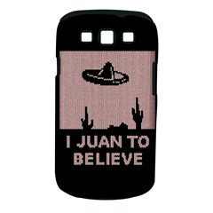 I Juan To Believe Ugly Holiday Christmas Black Background Samsung Galaxy S Iii Classic Hardshell Case (pc+silicone) by Onesevenart