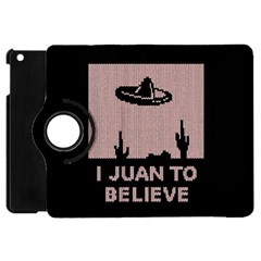 I Juan To Believe Ugly Holiday Christmas Black Background Apple Ipad Mini Flip 360 Case by Onesevenart