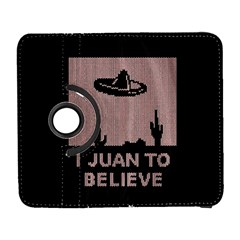 I Juan To Believe Ugly Holiday Christmas Black Background Samsung Galaxy S  Iii Flip 360 Case by Onesevenart