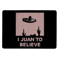 I Juan To Believe Ugly Holiday Christmas Black Background Samsung Galaxy Tab 10 1  P7500 Flip Case by Onesevenart