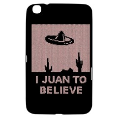 I Juan To Believe Ugly Holiday Christmas Black Background Samsung Galaxy Tab 3 (8 ) T3100 Hardshell Case  by Onesevenart