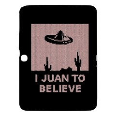 I Juan To Believe Ugly Holiday Christmas Black Background Samsung Galaxy Tab 3 (10 1 ) P5200 Hardshell Case  by Onesevenart